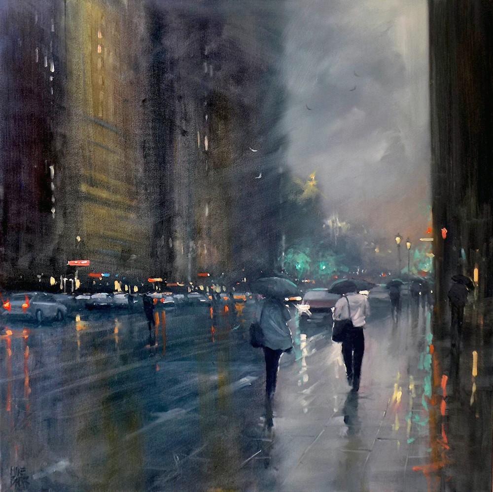 Если устали от дождя, погрузитесь в его мрачную романтику - картины Майка Барра прекрасно ее передают