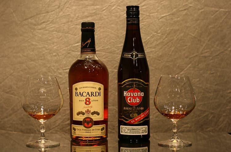 Разница между виски и ромом