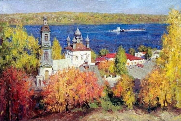 Художник Александр Косничев. Когда звенит последний листопад