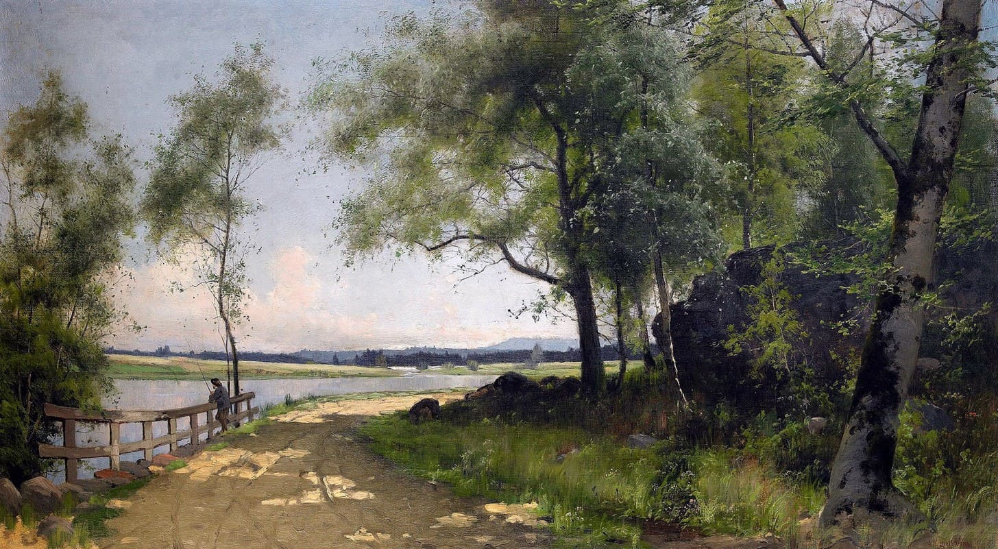 Художник Arvid Mauritz Lindstrom (1849 – 1923). Гений атмосферного пейзажа