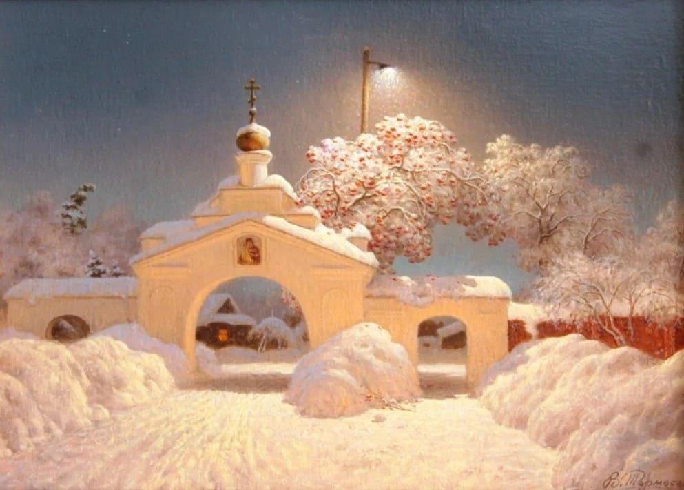 Художник Виктор Тормосов. Где стеною снега…