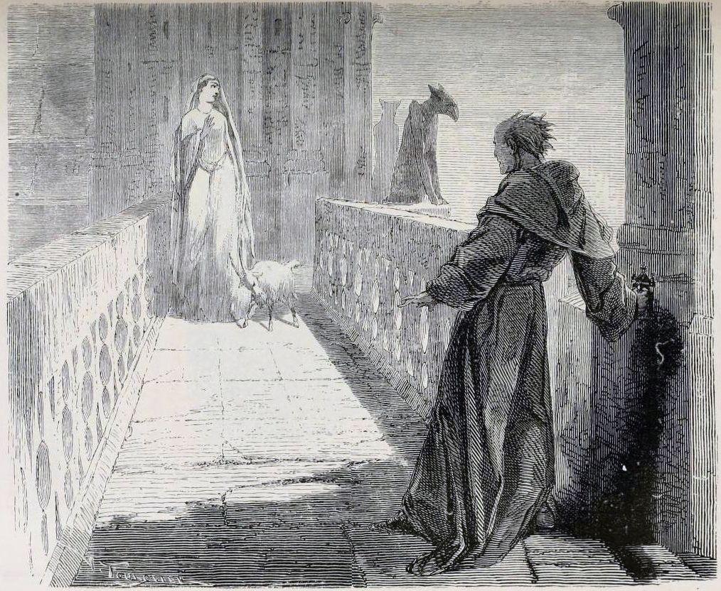 Отрывок из романа В. Гюго «Собор Парижской Богоматери» (1831) о несчастной любви.