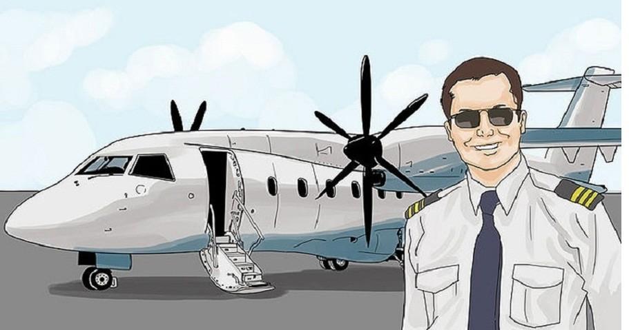 Анекдот о пилоте, которого слепой пассажир попросил погулять с собакой-поводырем