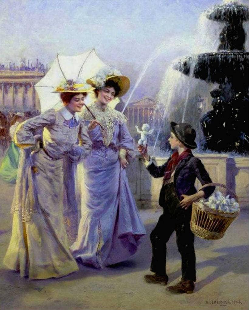 Художник Basile Lemeunier (1852 – 1922)