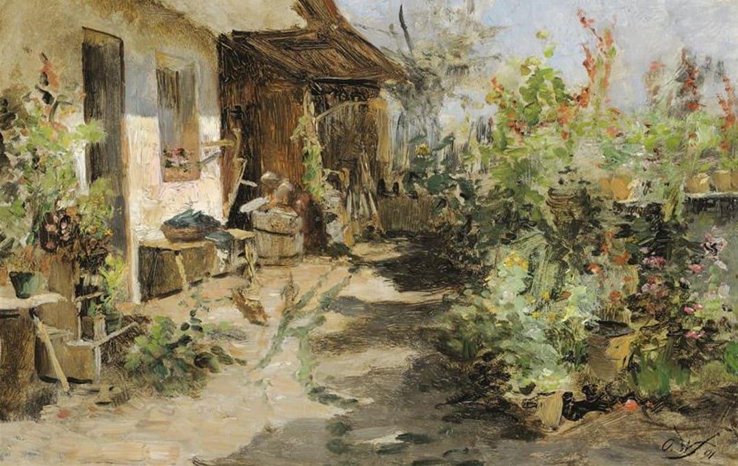 Художник Olga Wisinger-Florian (1844 – 1926). Прогулка в осеннем парке