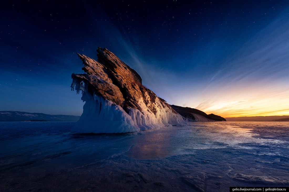 Зимний Байкал — километры прозрачного льда (76 фото)