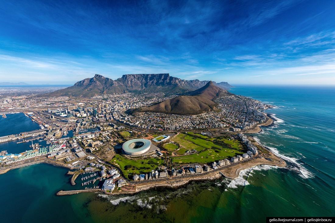 Кейптаун с высоты — самый красивый город Африки (42 фото)