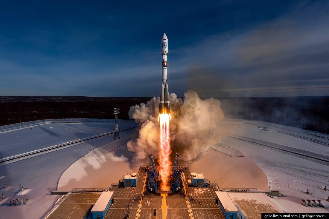 Космодром Восточный — запуск ракеты «Союз-2.1а» (42 фото)