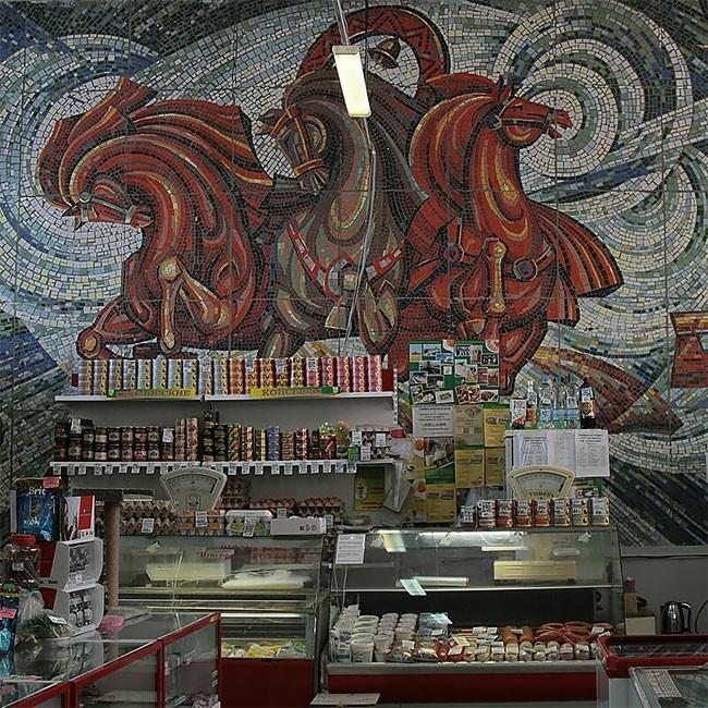 Советский реализм в искусстве мозаики