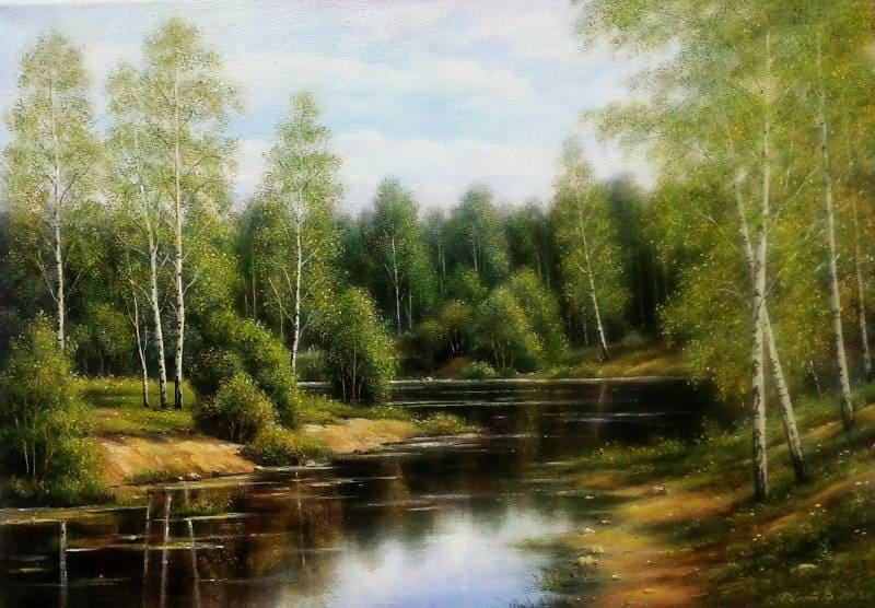 Художник Эльза Колесникова. Картины на стекле