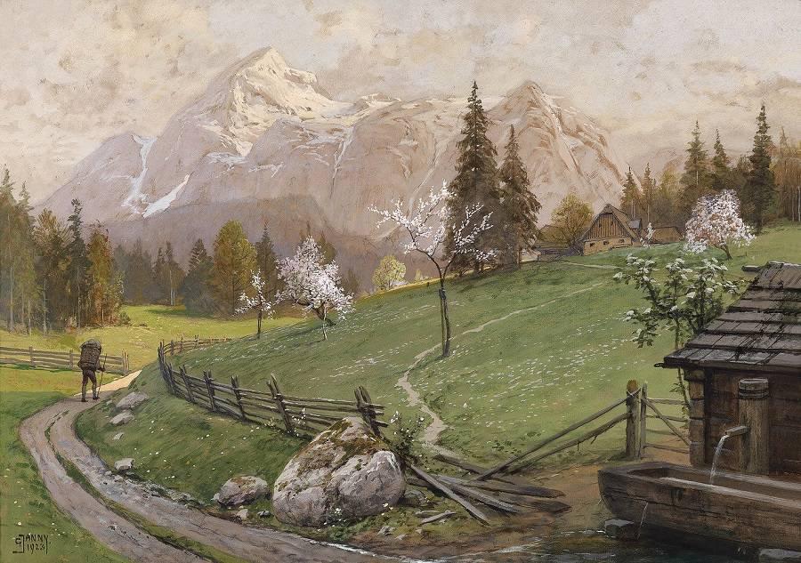 Художник Georg Janny (1864-1935) -волшебные дали
