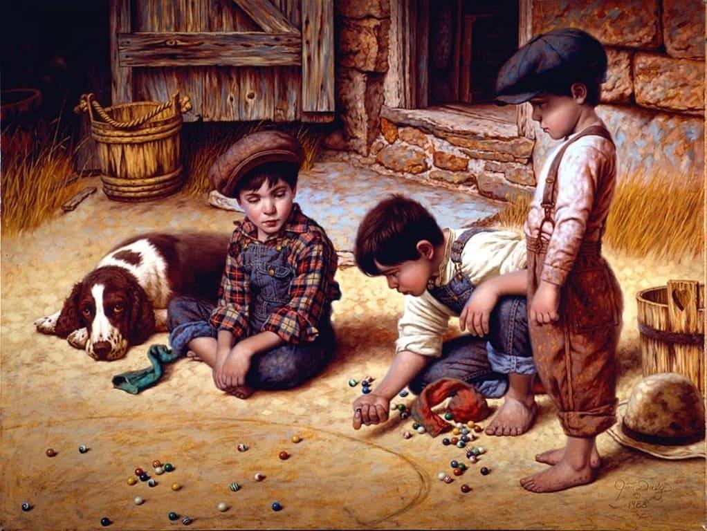 Художник Jim Daly. Детство — это Я