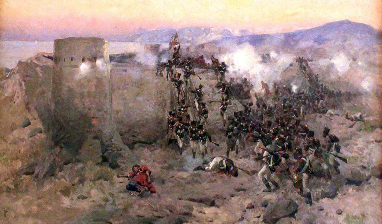 Подвиг полковника Карягина Павла Михайловича и батальона 17-го егерского полка летом 1805 г