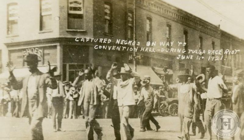 Бойня, резня, расизм и бомбардировки в 1921 году своего города Талса в США
