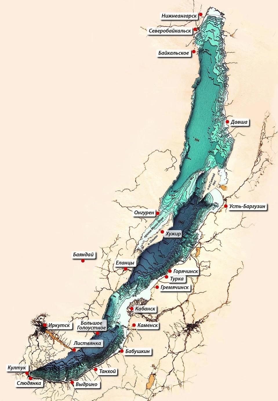 Как выглядит Байкал, если выпить всю воду: бездна озера глазами художников и ученых