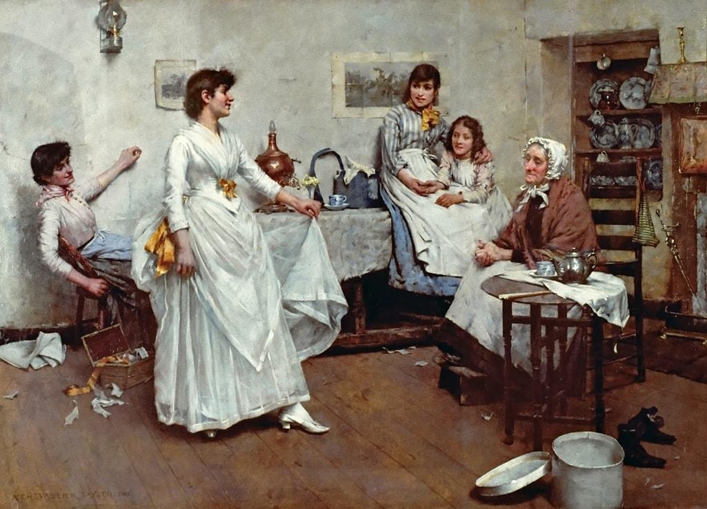 Английский художник Albert Chevallier Tayler (1862 – 1925)