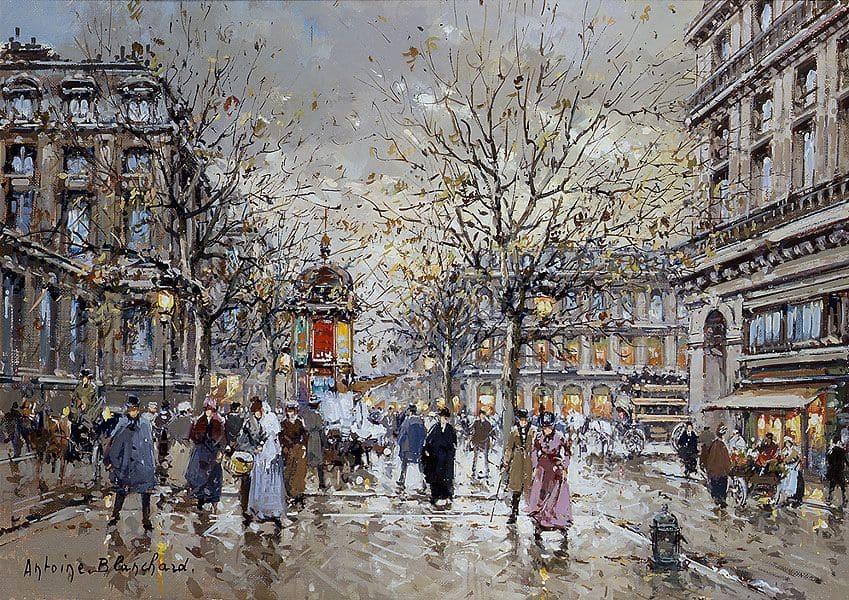 Художник Antoine Blanchard (1910 — 1988). Очарование старого Парижа
