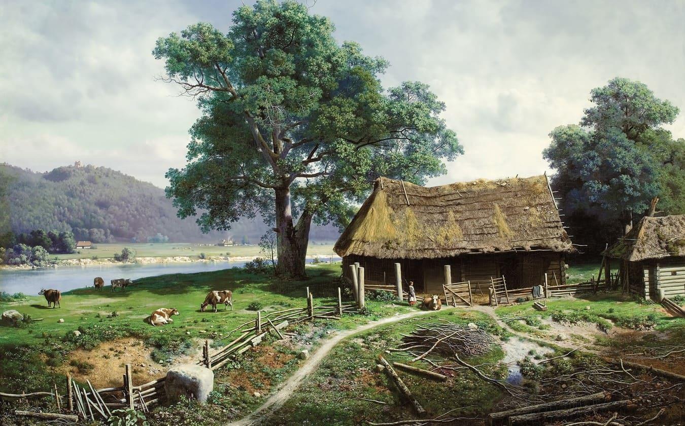 Художник Михаил Клодт (1832 — 1902) Русь уходящая
