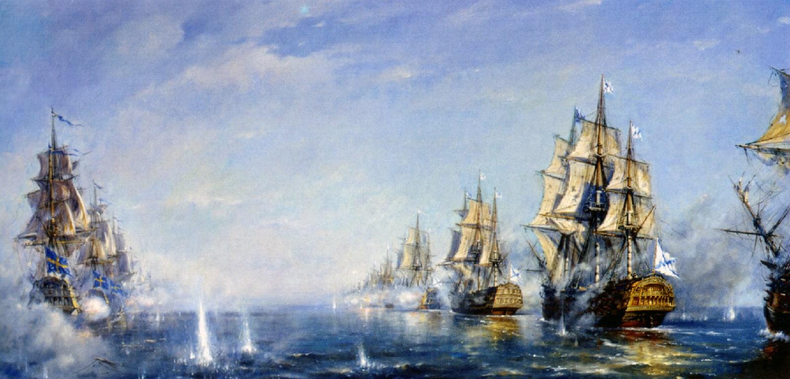 230 лет Красногорскому морскому сражению между Россией и Швецией