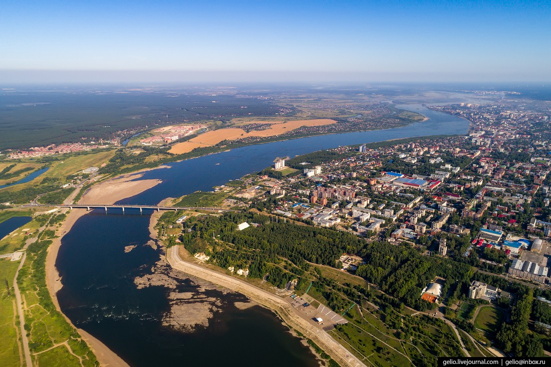 Томск с высоты — сибирский город студентов (44 фото)