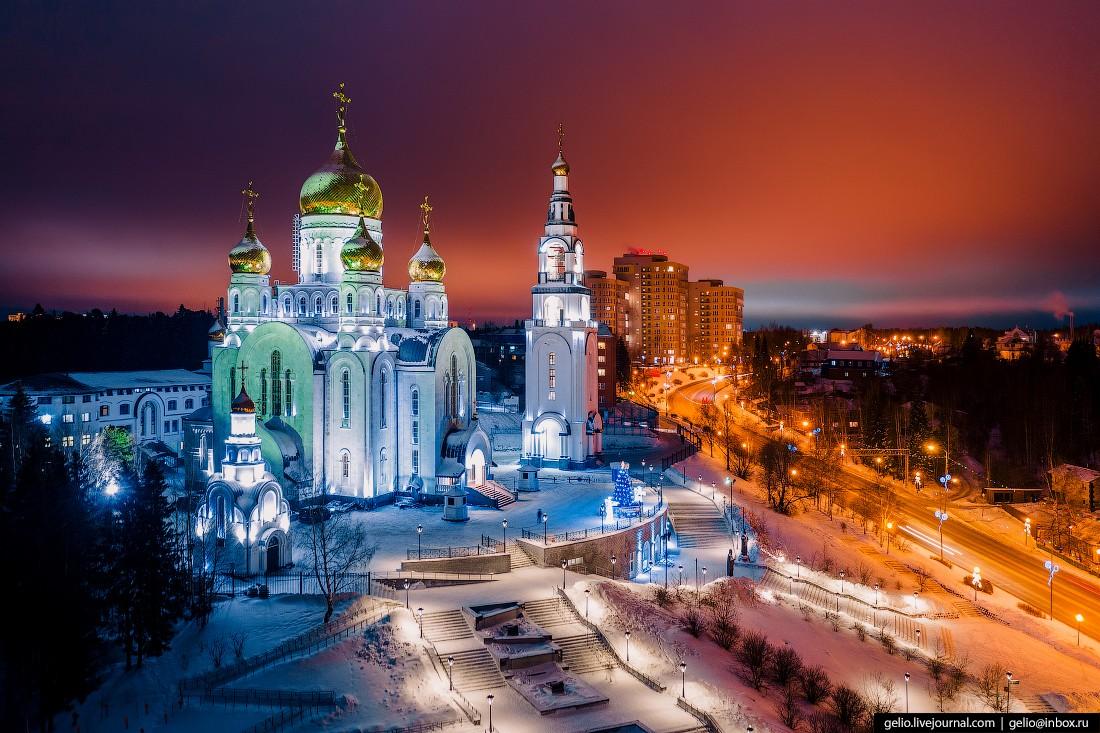 Ханты-Мансийск с высоты — город пирамид и мамонтов (60 фото)