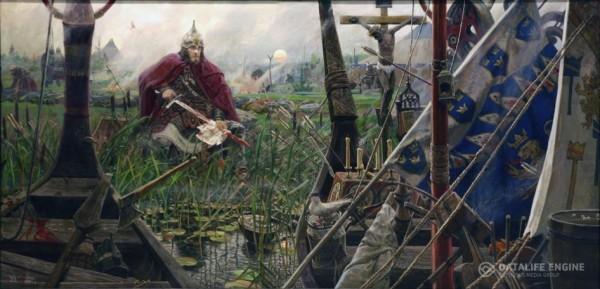 Невская битва. 2010 г. Холст, масло.