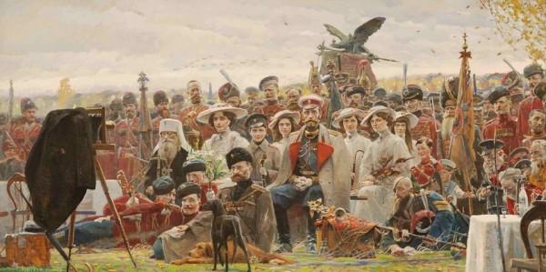 Фотография на память (№2 из Триптиха «Русский век»). 2007 г. Холст, масло.