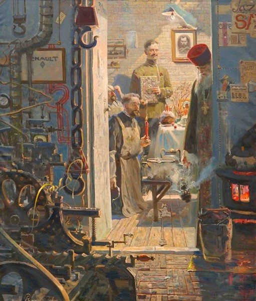 Пасха в Париже (№3 из Триптиха «Русский век»). 2007 г. Холст, масло.