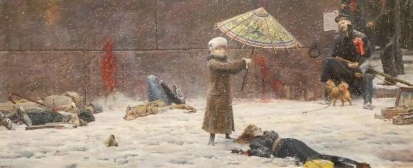 Зонтик. 2008 г. Холст, масло.