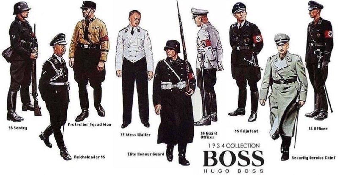 HUGO BOSS - личный стилист Гитлера и создатель униформы нацистов