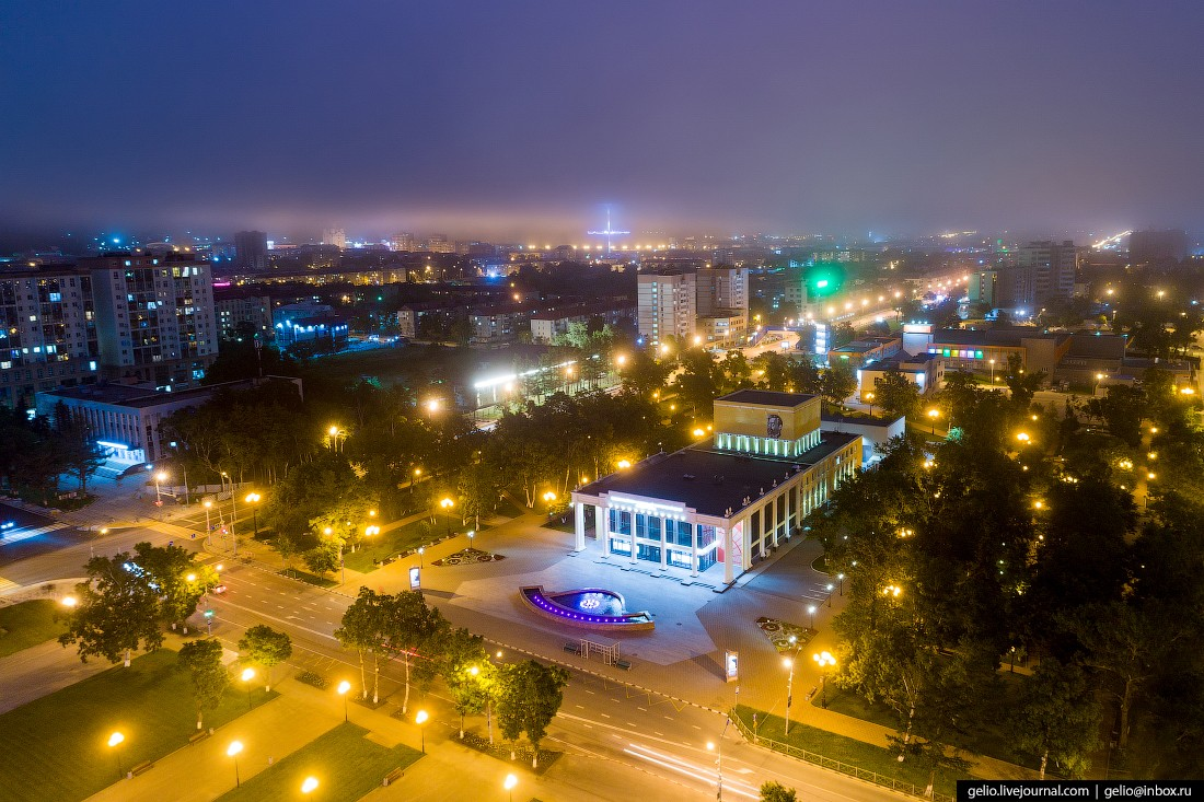 Южно-Сахалинск с высоты — город с японским наследием (38 фото)