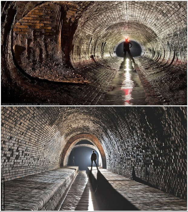 Красота подземного сооружения как магнитом притягивает любителей экстрима (Лодзь, Польша). | Фото: pikabu.ru/ moya-planeta.ru.