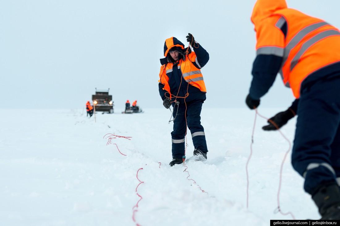 Поиск и разведка нефтегазовых месторождений на Крайнем Севере (68 фото)