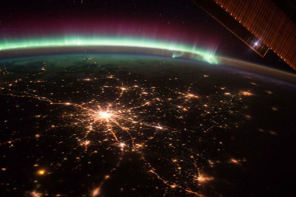 Московская агломерация. Снимок с МКС.