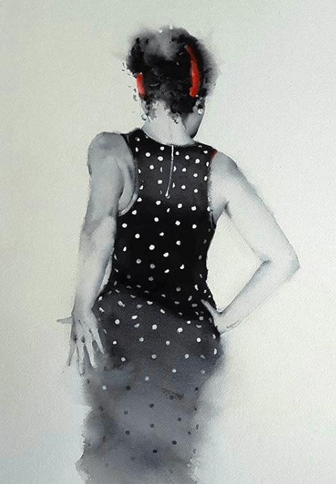 "Б. Альварез, ""Танцовщица фламенко"""