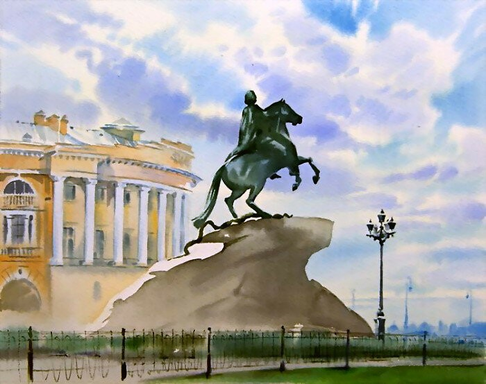 Петербург глазами художника Ольги Литвиненко