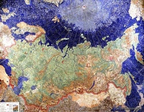 Мозаичное панно «Карта индустриализации СССР». 1936-1937 гг.