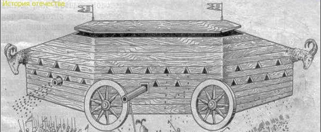 Танки на московской заставе XVII века