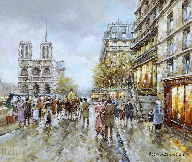 художник Антуан Бланшар (Antoine Blanchard) картины – 05