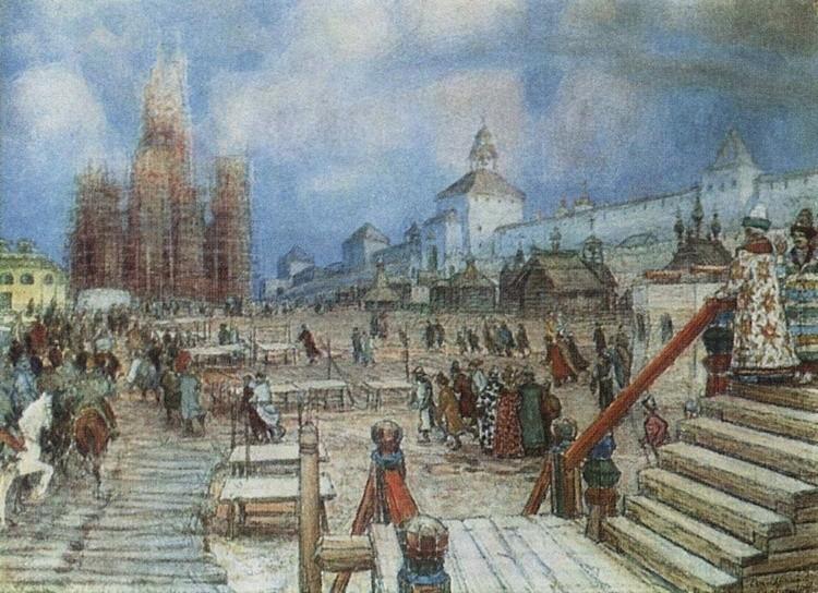 художник Аполлинарий Васнецов картины – 18