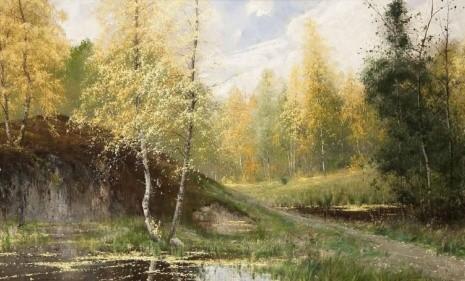 художник Арвид Мауриц Линдстрем (Arvid Mauritz Lindstrom) картины – 02