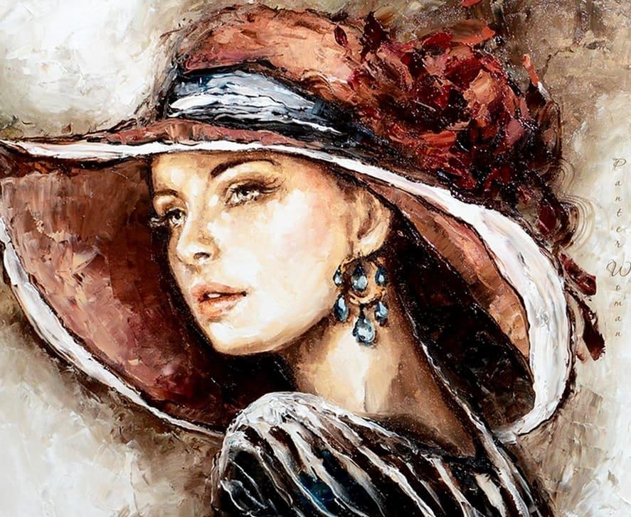Польский художник Elzbieta Brozek. Портрет незнакомки
