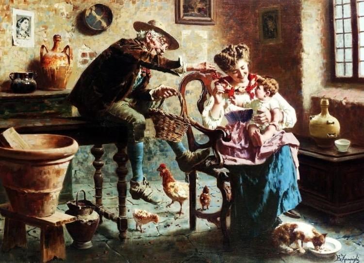 художник Эугенио Эдуардо Дзампиги (Eugenio Eduardo Zampighi) картины – 06