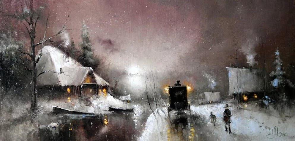 Художник Игорь Медведев. Магия симфонии снега и лунного света
