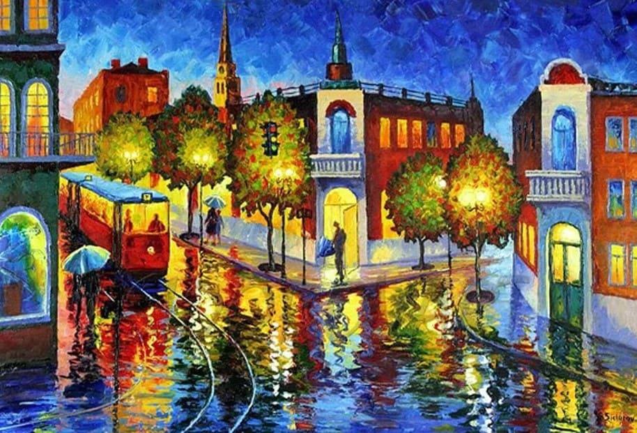 Художник Stanislav Sidorov. По радуге дождя