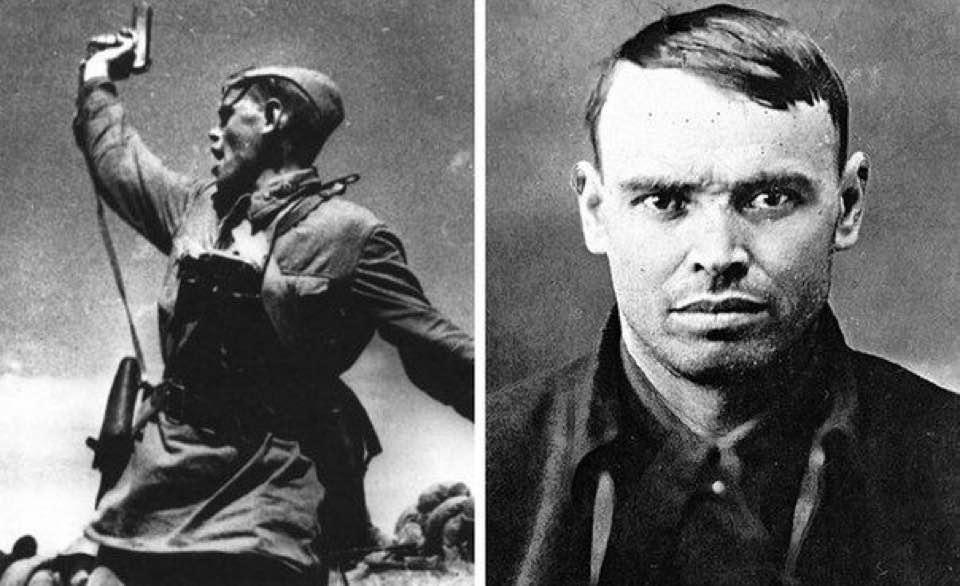 История фотографии и героя, председателя передового колхоза, младшего политрука Алексея Гордеевича Еременко