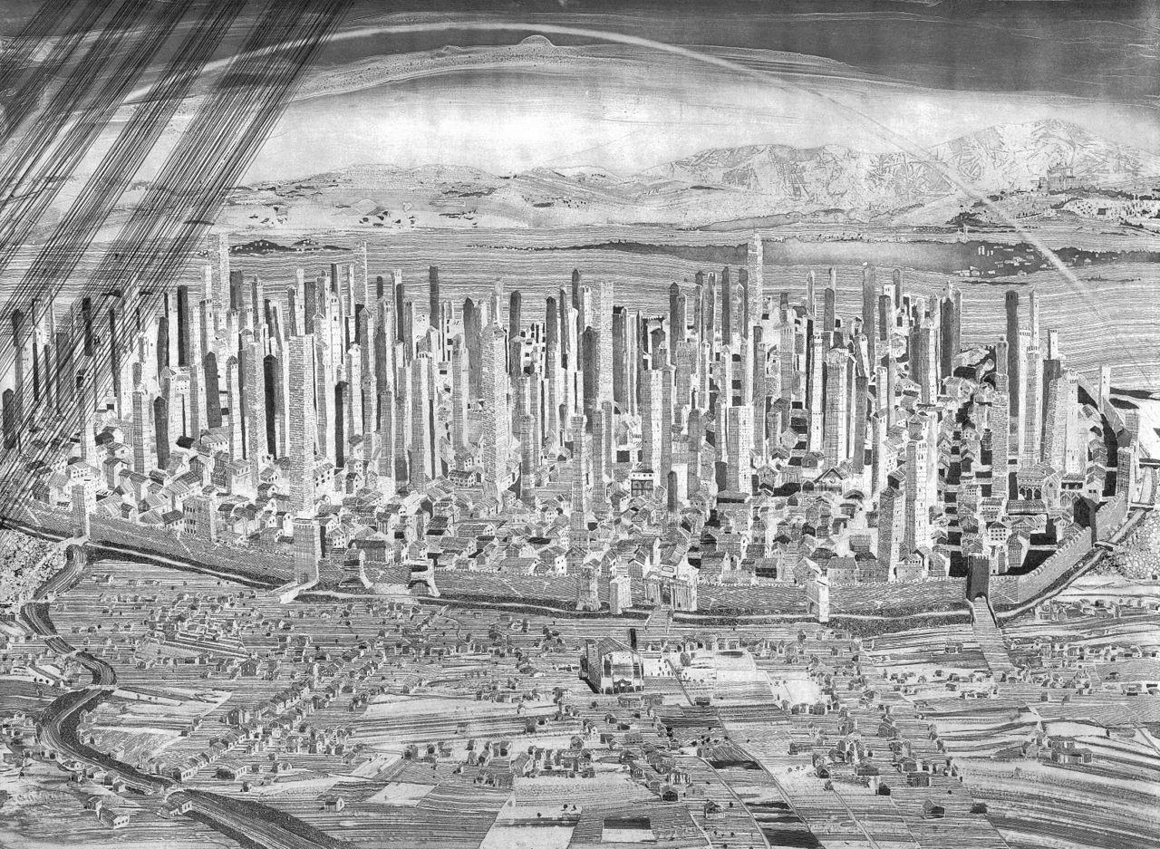 Башни Болоньи. Город небоскрёбов прошлого.