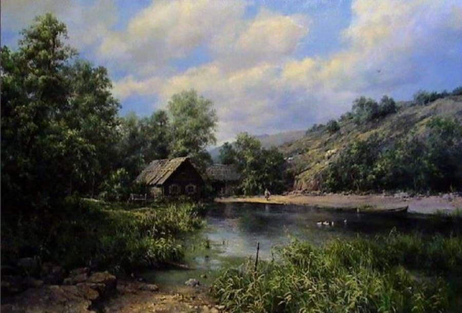 Художник Андрей Огурцов. Изумрудные пейзажи