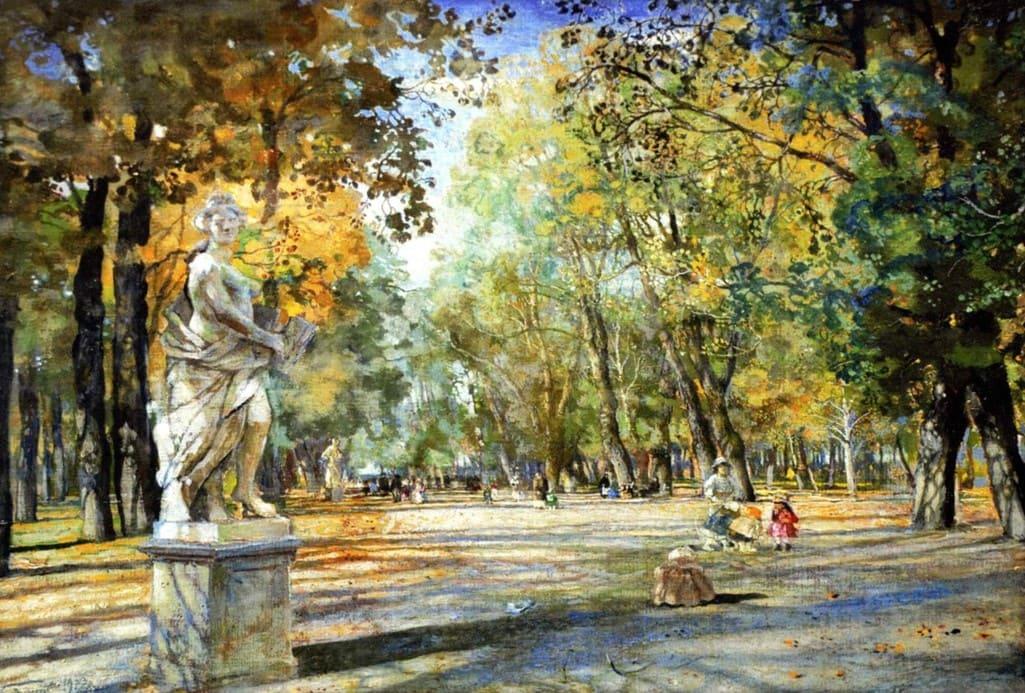 Художник Исаак Бродский (1883 — 1939) Осень и Лениниана