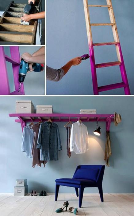 Лестница, которая заменит шкаф.